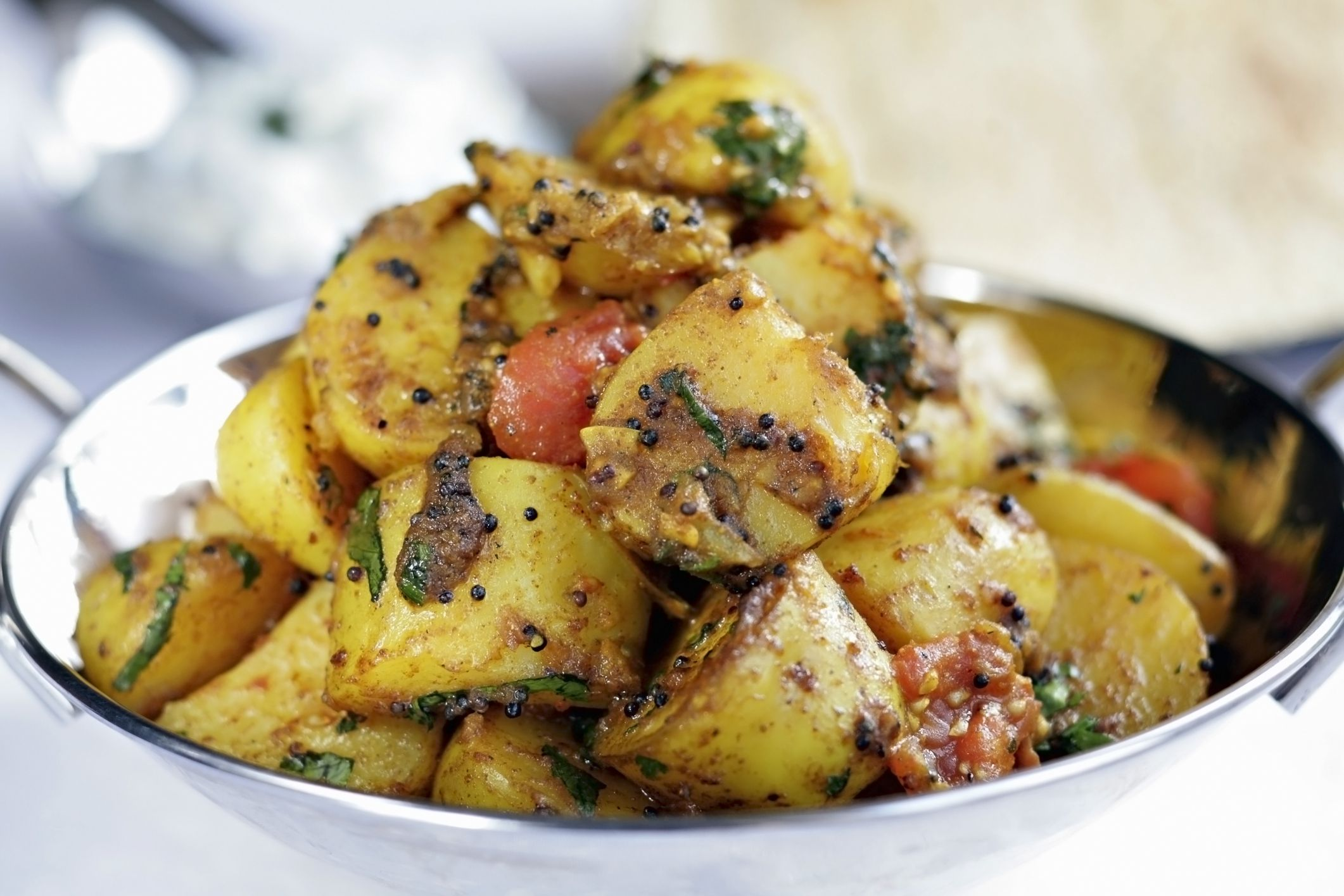 Spicy Indian Bombay Potatoes with Chilies