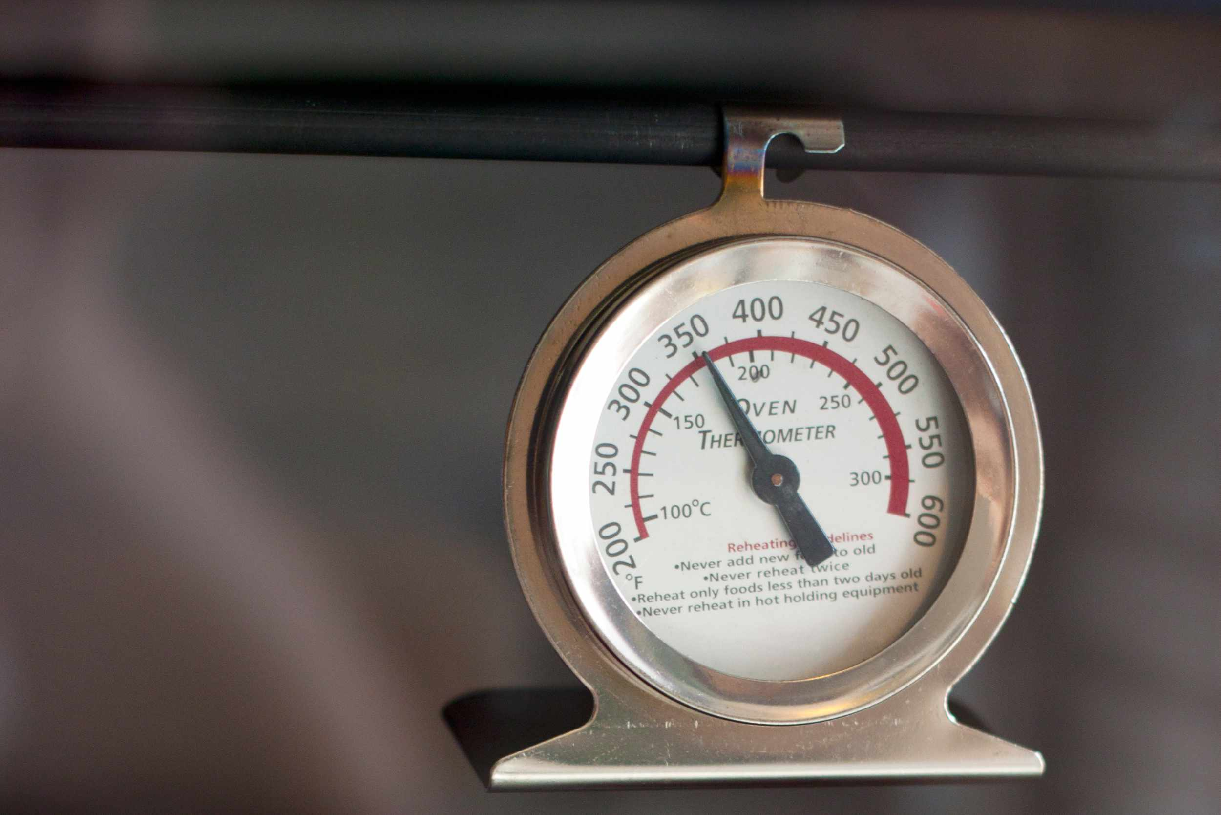 An oven thermometer helps confirm that your oven is heating properly.