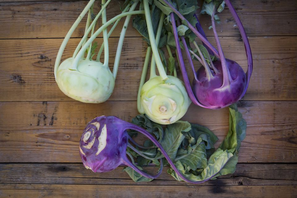 Green and Purple Kohlrabi