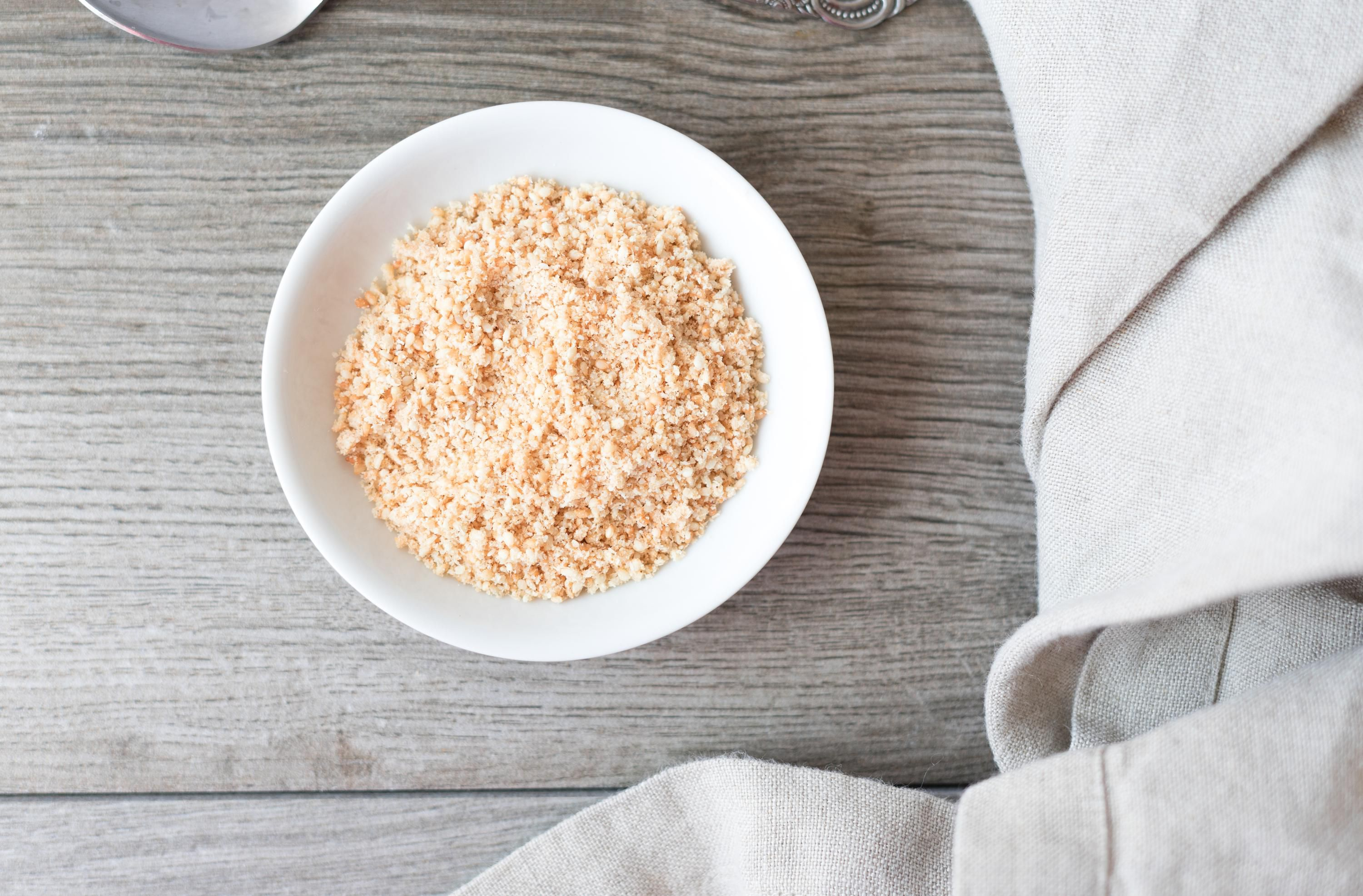 Ground and toasted sesame seeds