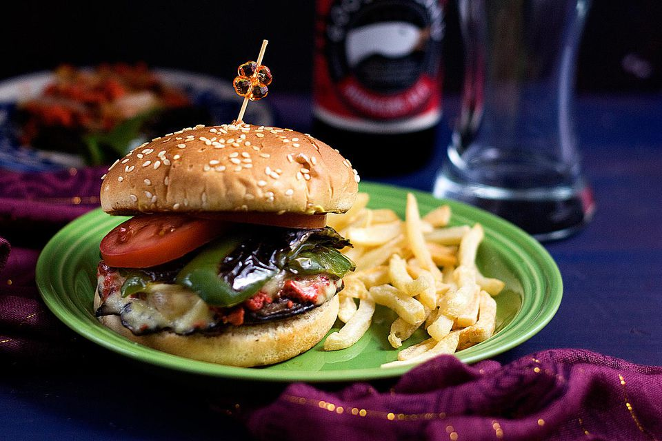 Chorizo Stuffed Portobello Cheeseburgers