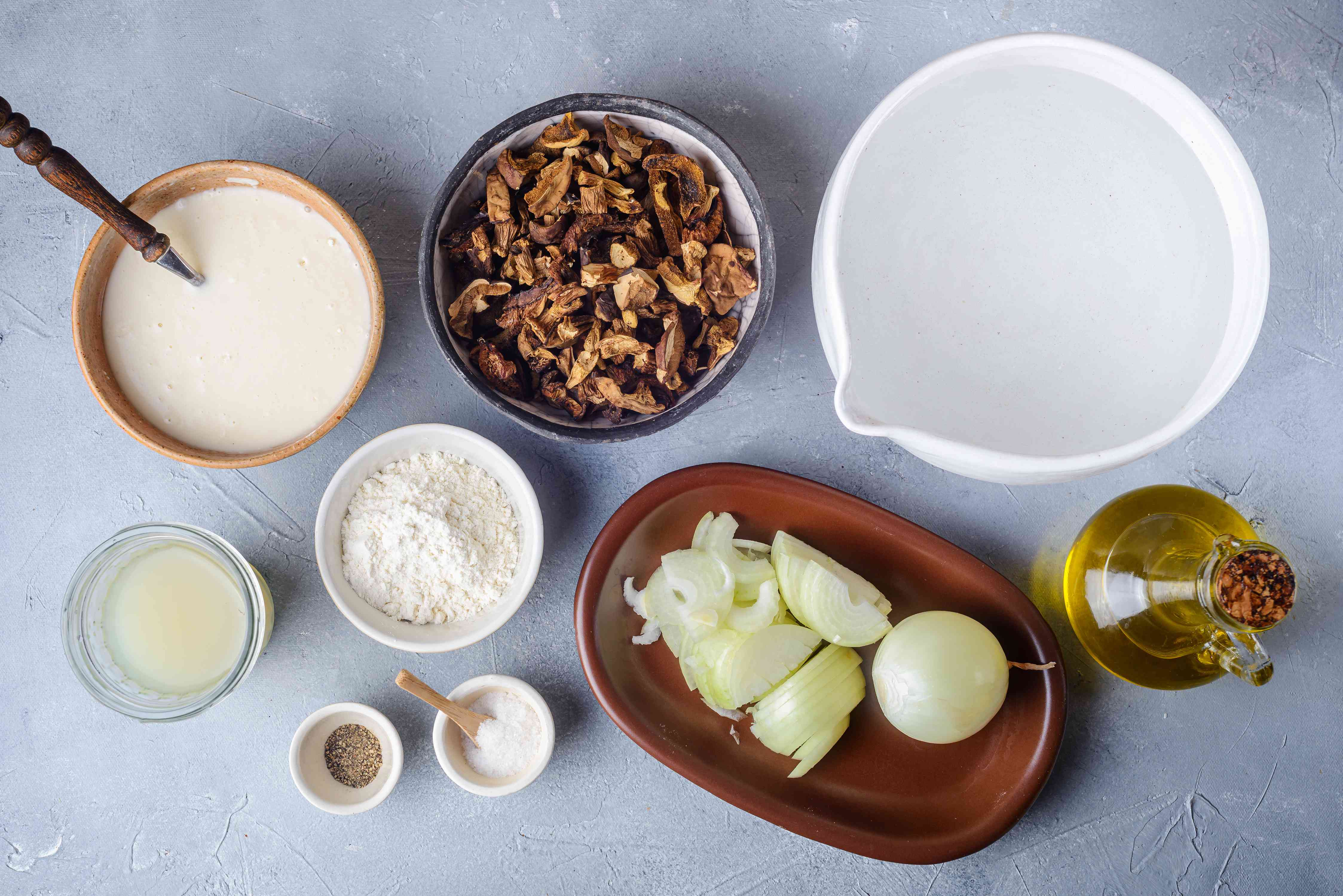 Ingredients for Slovak sour mushroom soup