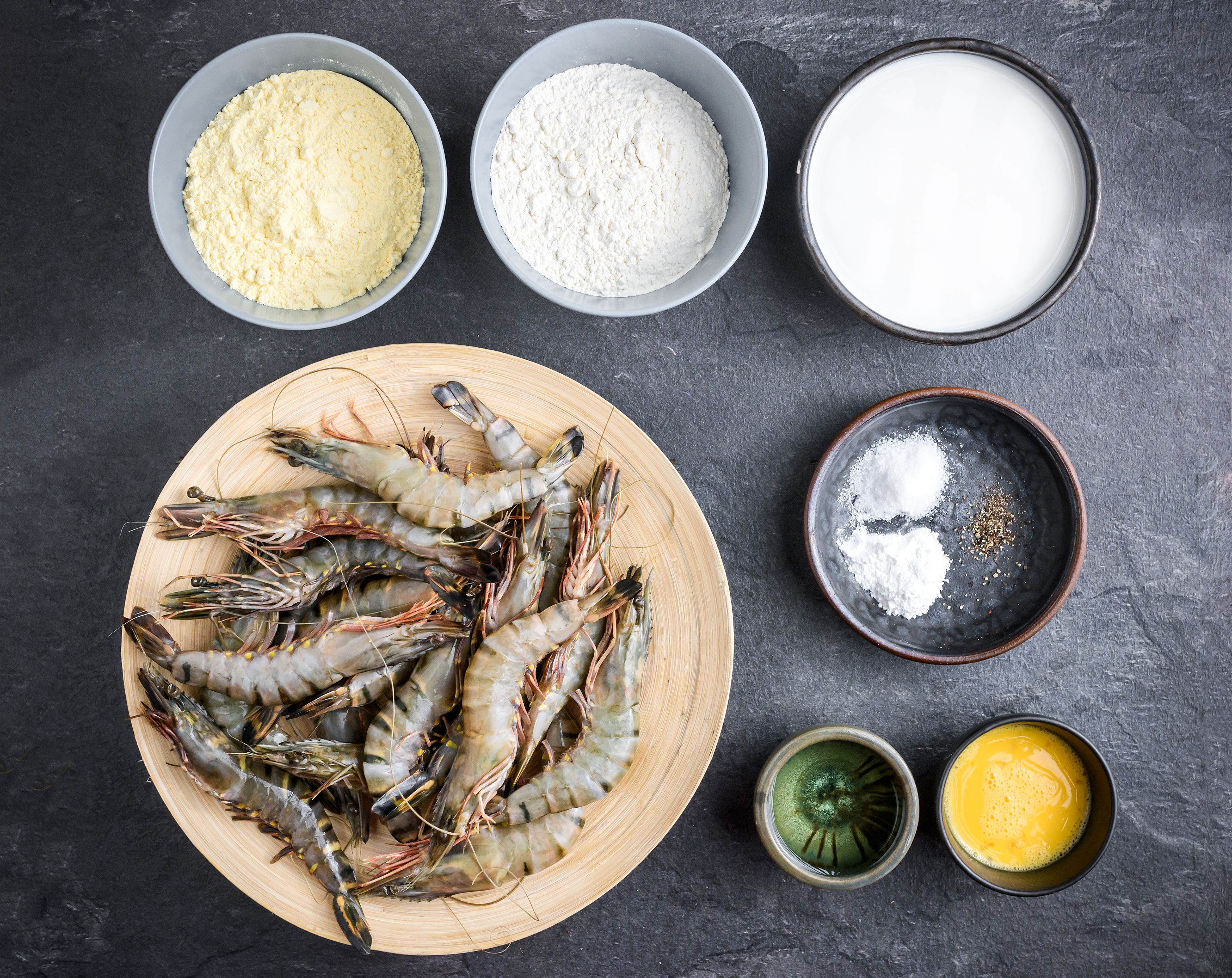 Cornmeal Fried Shrimp Recipe ingredients