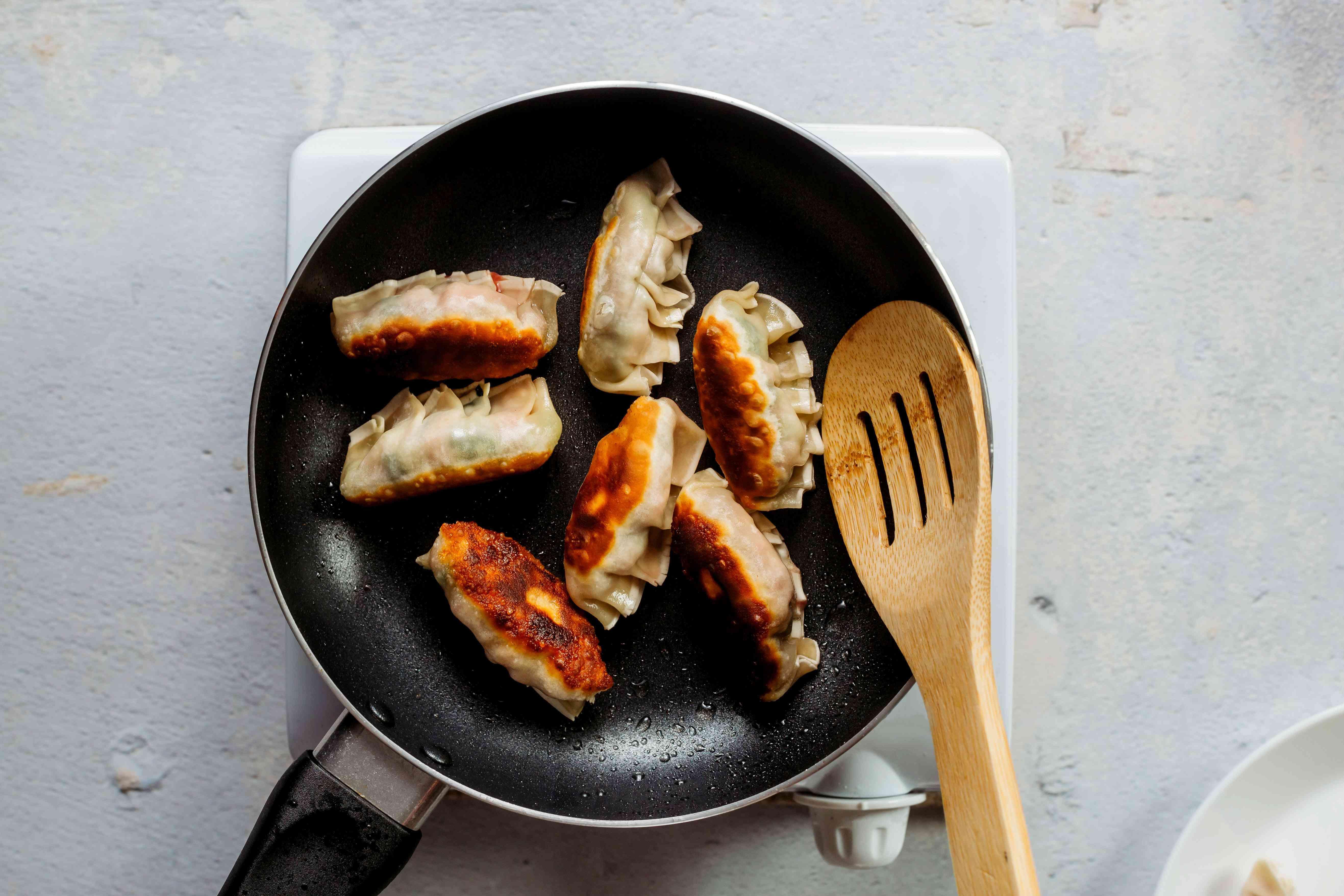 fry the dumplings in a pan