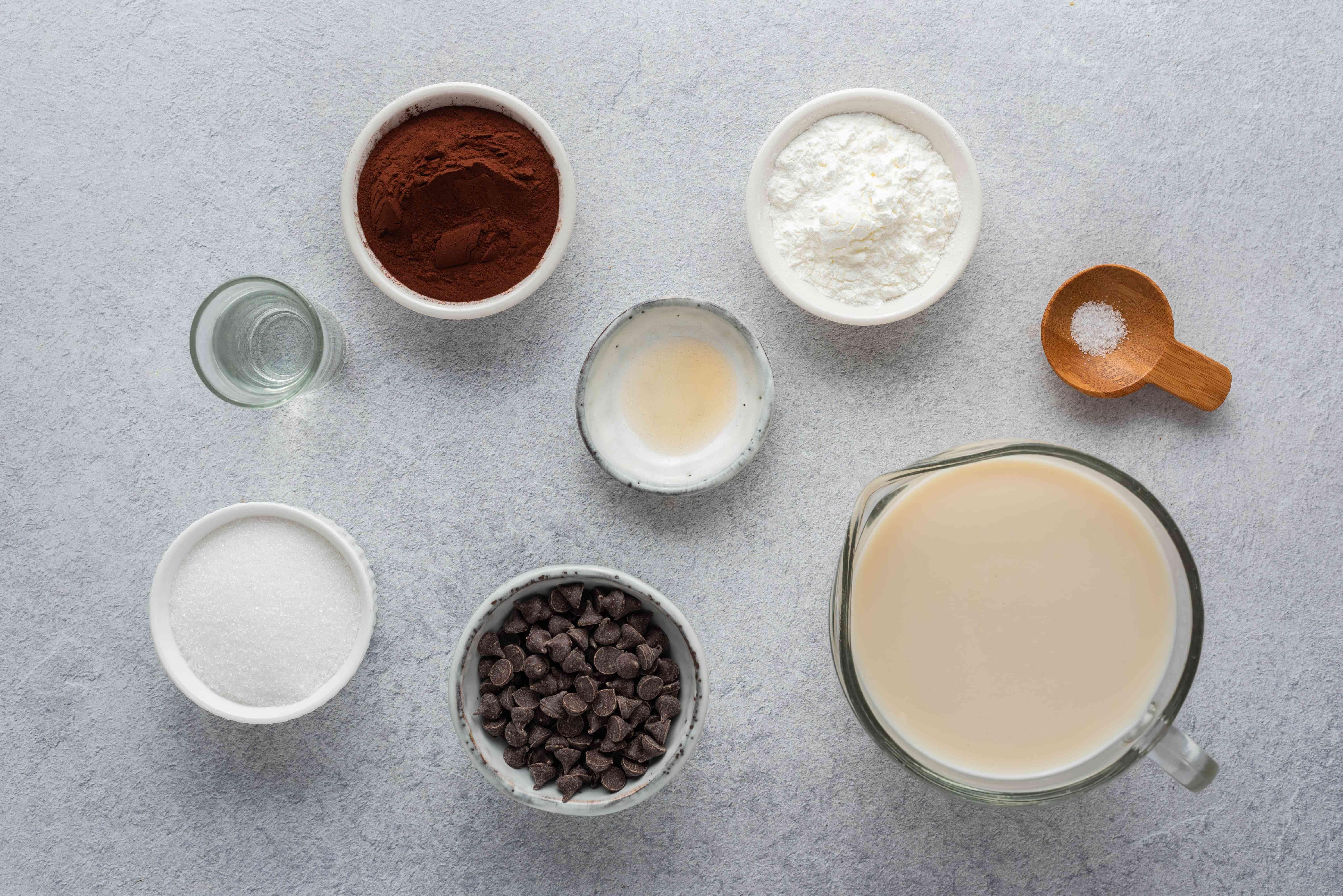 Dairy-Free Vegan Chocolate Pudding ingredients