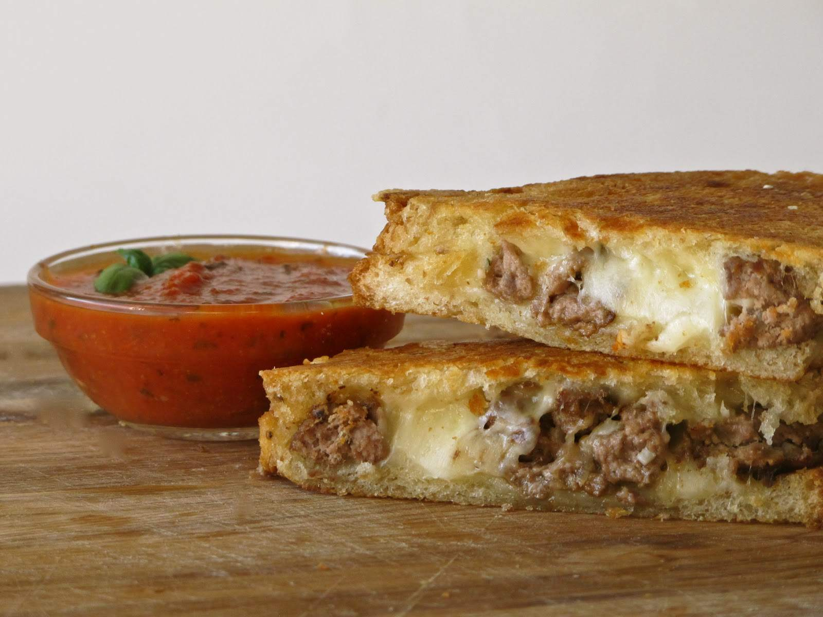 Meatball Smash Grilled Cheese