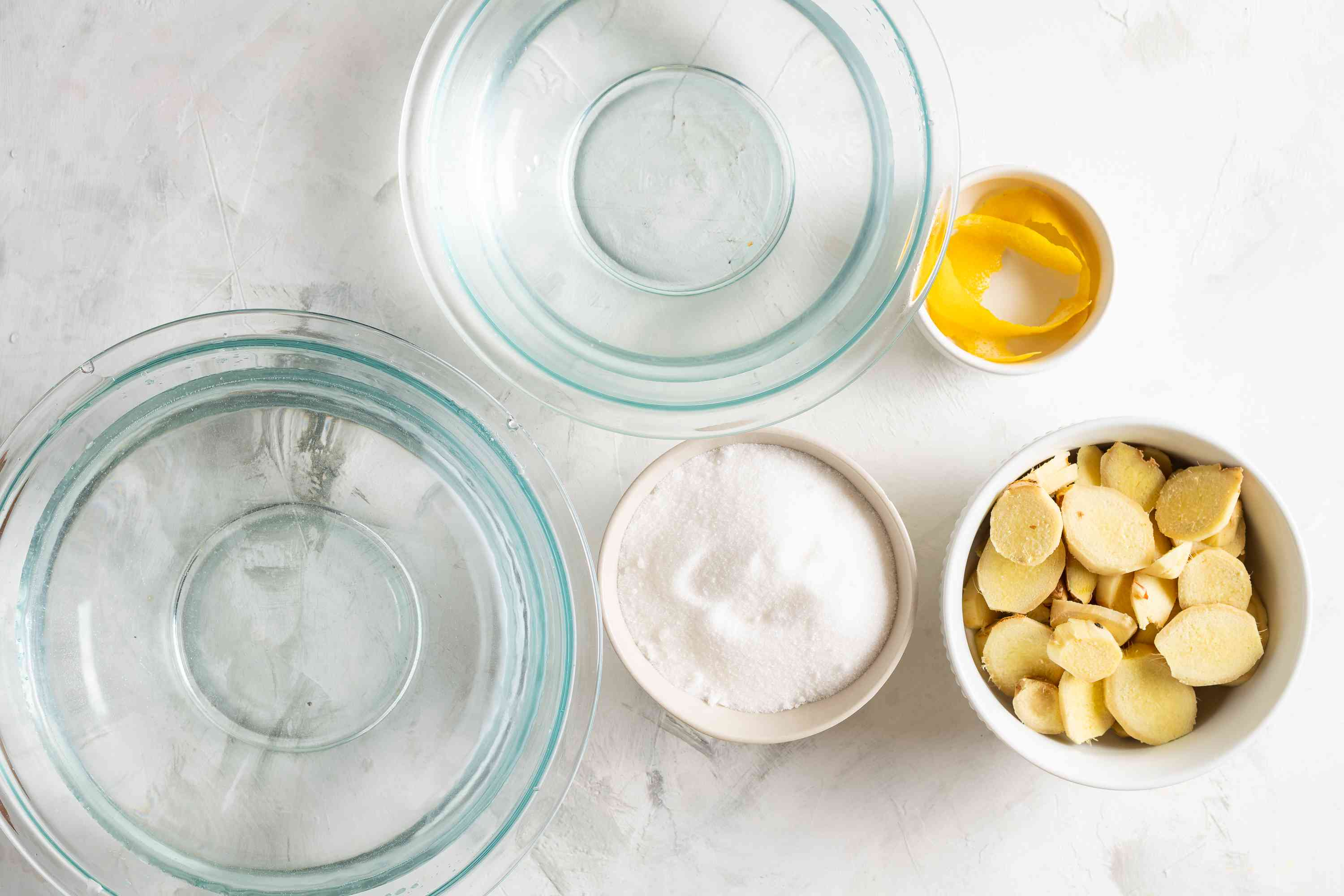 Homemade Fresh Ginger Ale ingredients