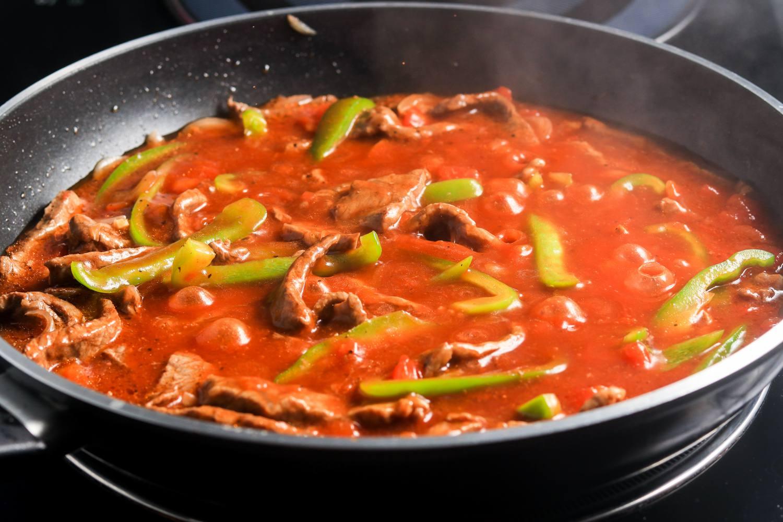 Bring mixture to boil in skillet