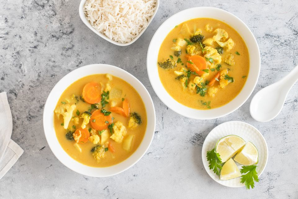 Vegan yellow thai curry