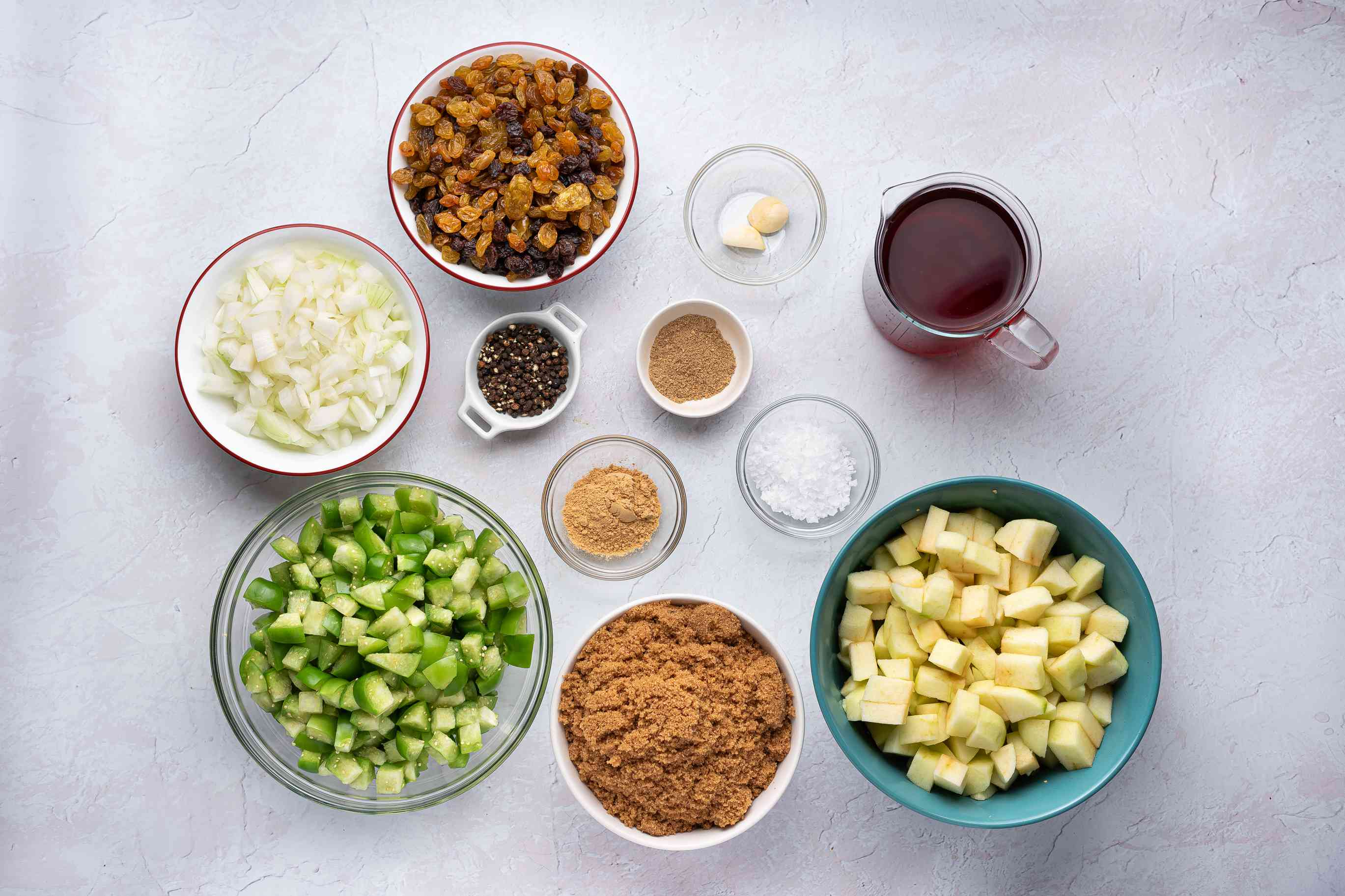 Green Tomato and Apple Chutney ingredients