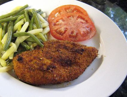 Spicy Oven Fried Chicken Breasts