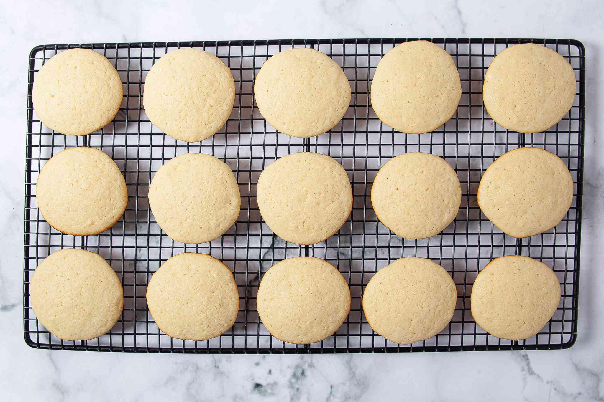 Lemon Ricotta Cookies on cooking rack