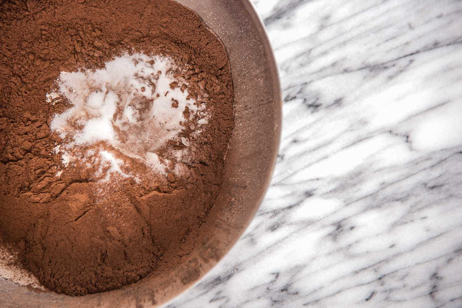 Sift flour, cocoa powder, baking soda and salt together