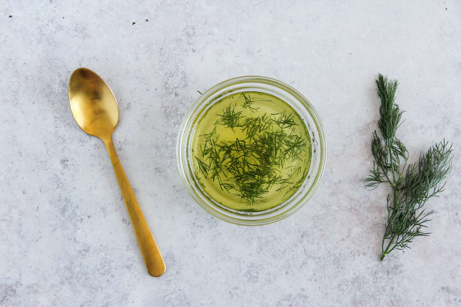Combine olive oil and dill