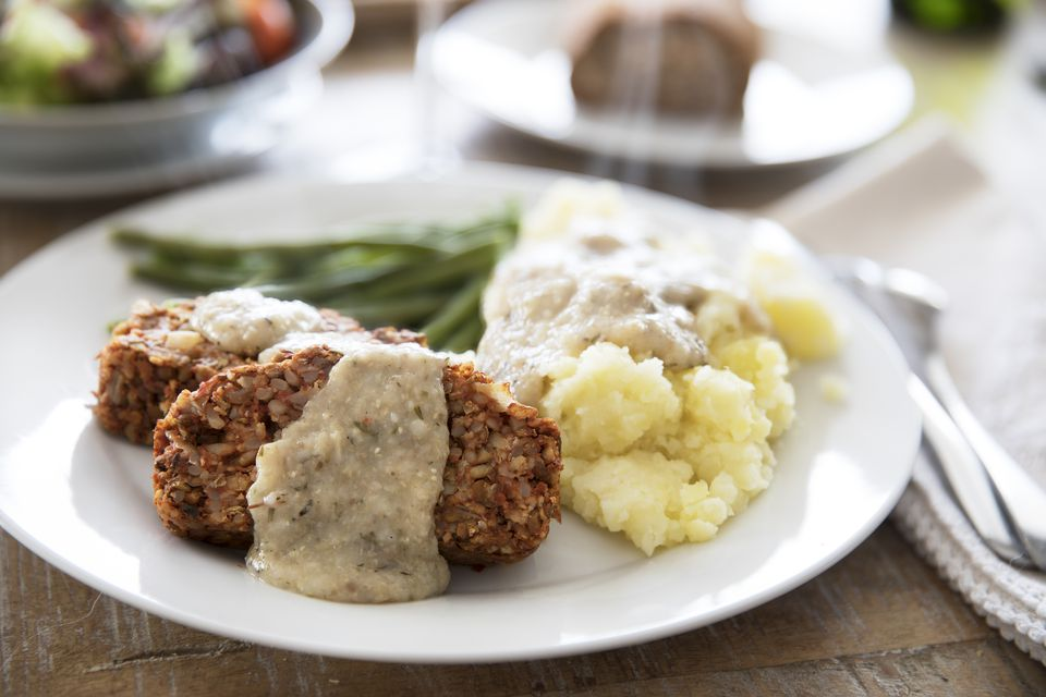 Vegan Lentil Loaf Dinner