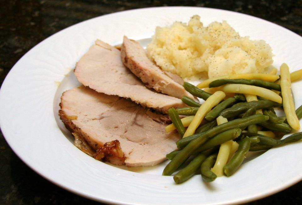 Pork loin roast with sweet maple and brown sugar glaze