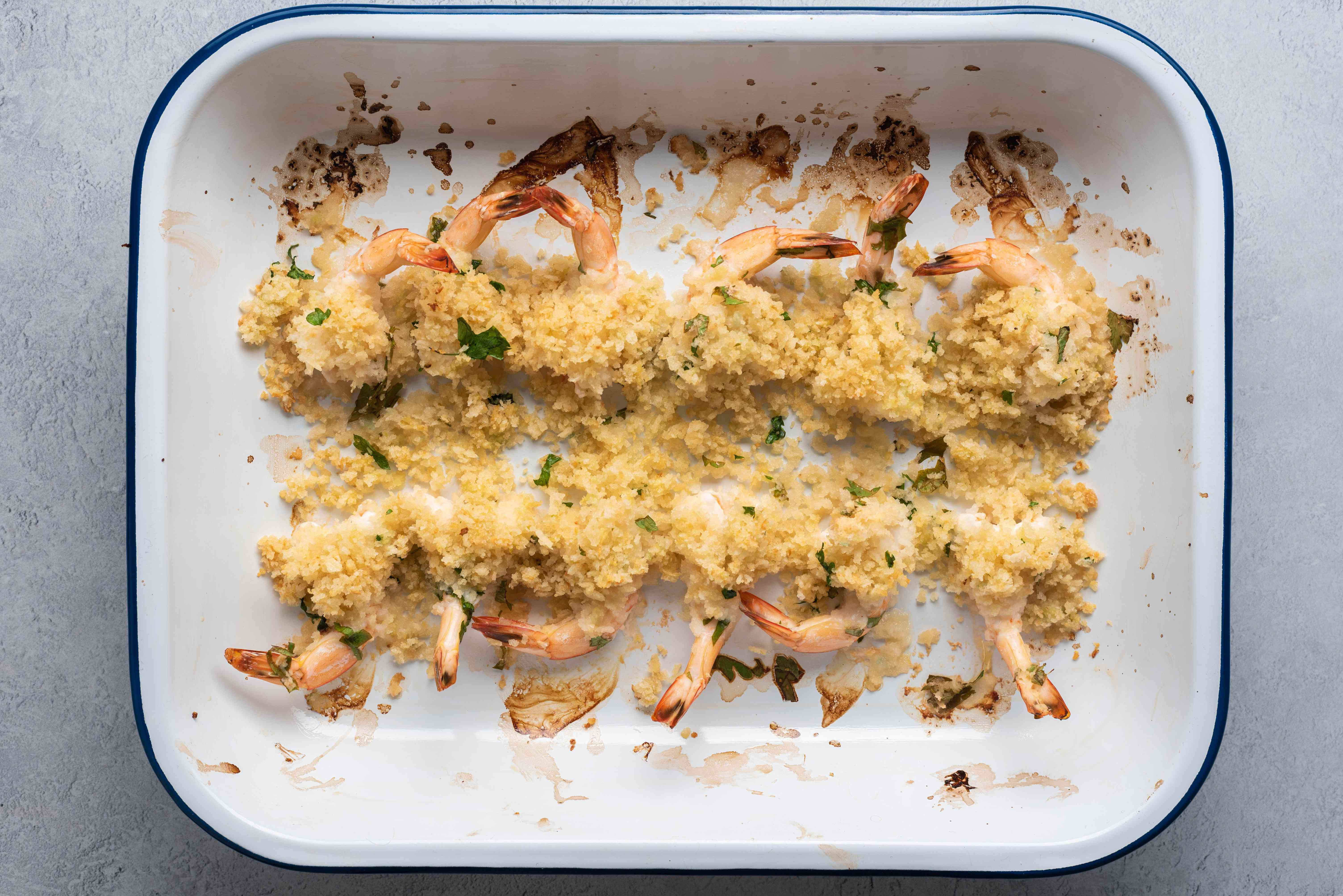 bake the shrimp