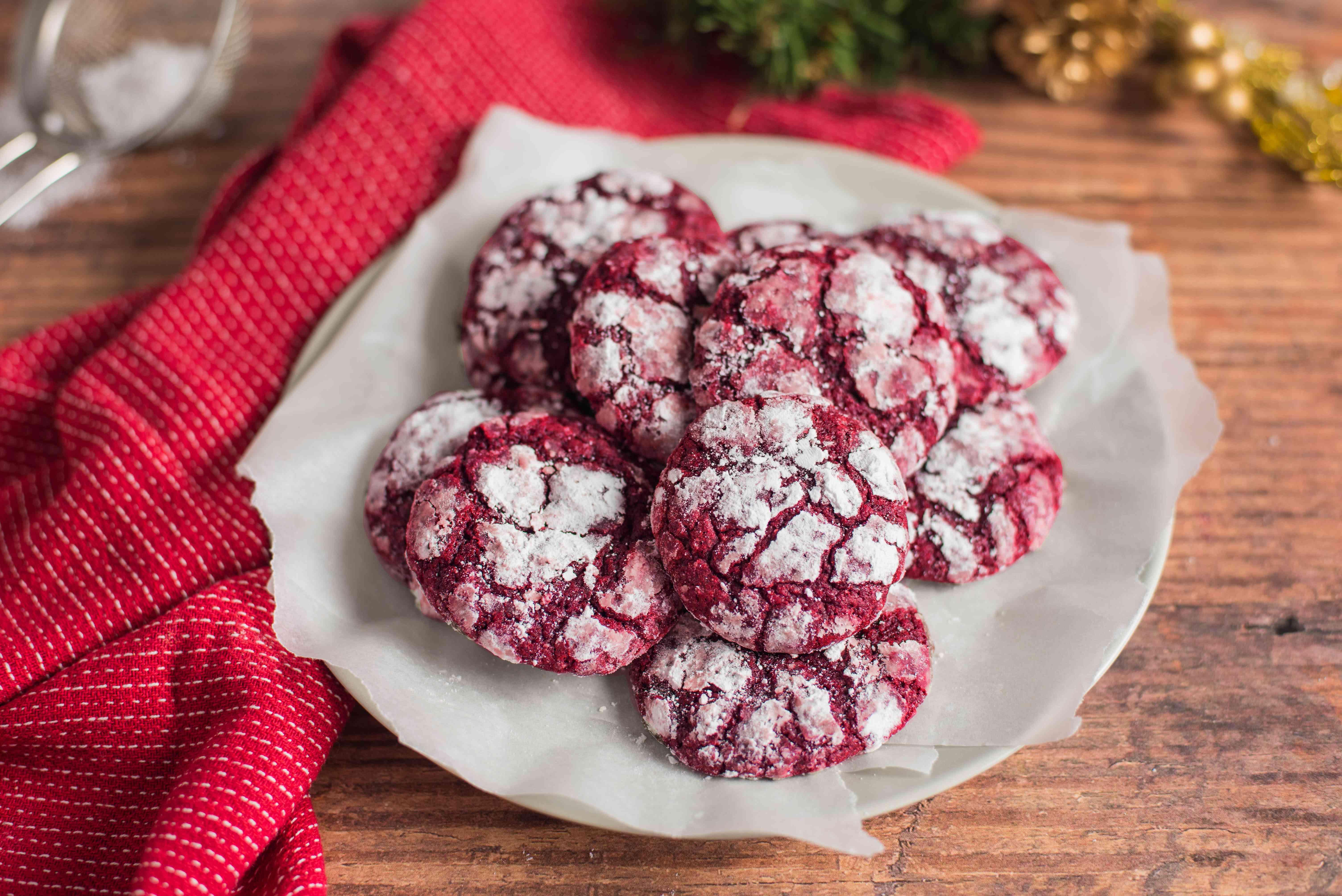 Red velvet crinkles recipe