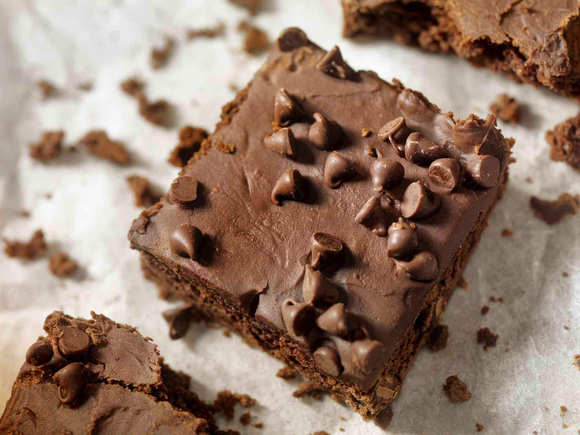 Brownie with chocolate chips