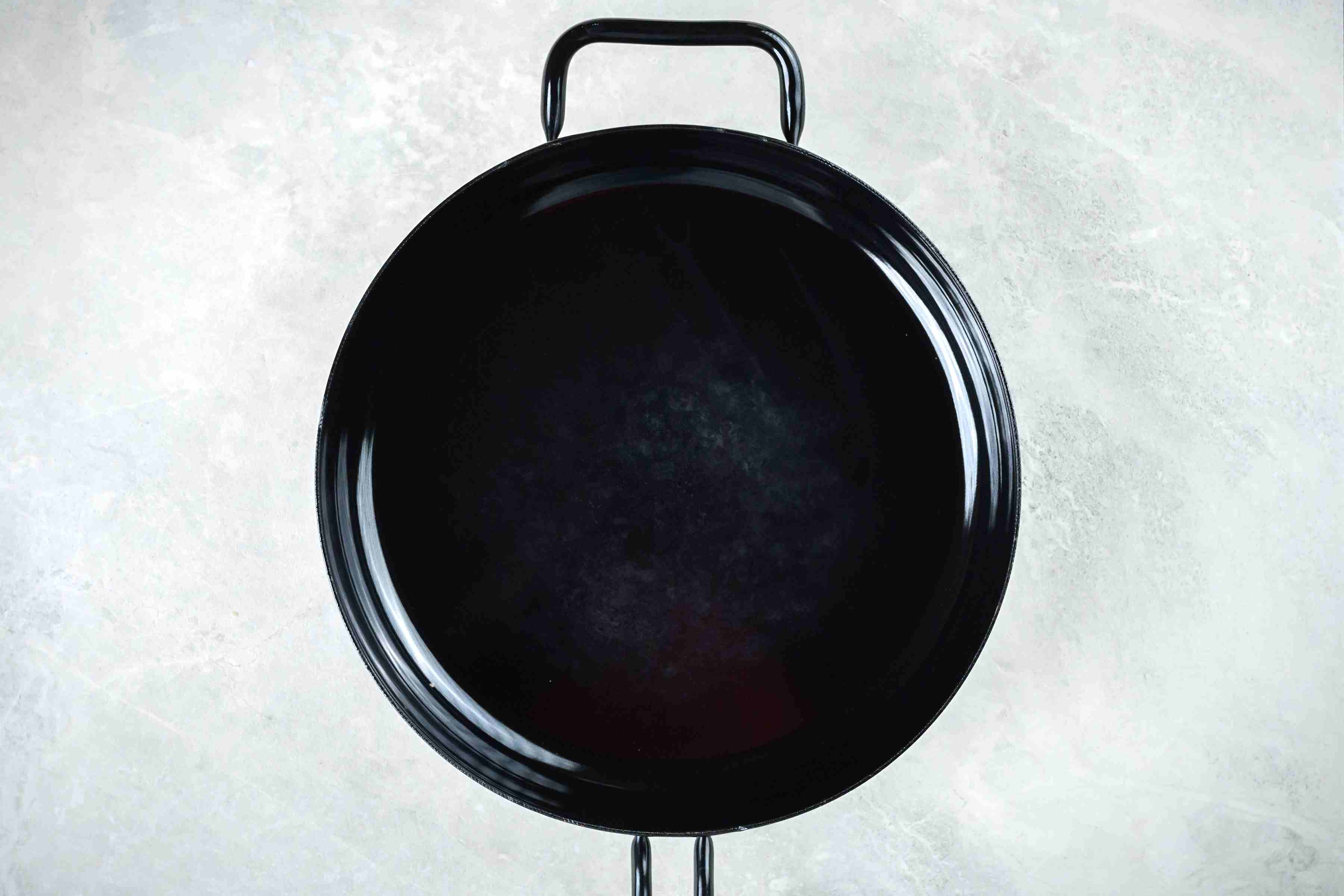 Cast-iron skillet with oil
