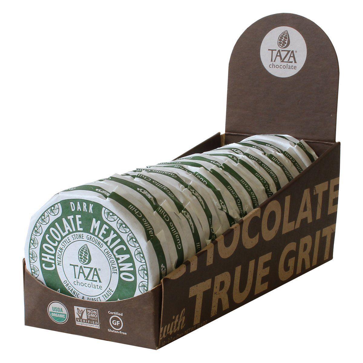 Taza Chocolate Guajillo Chili Mexicano Dark Chocolate Discs