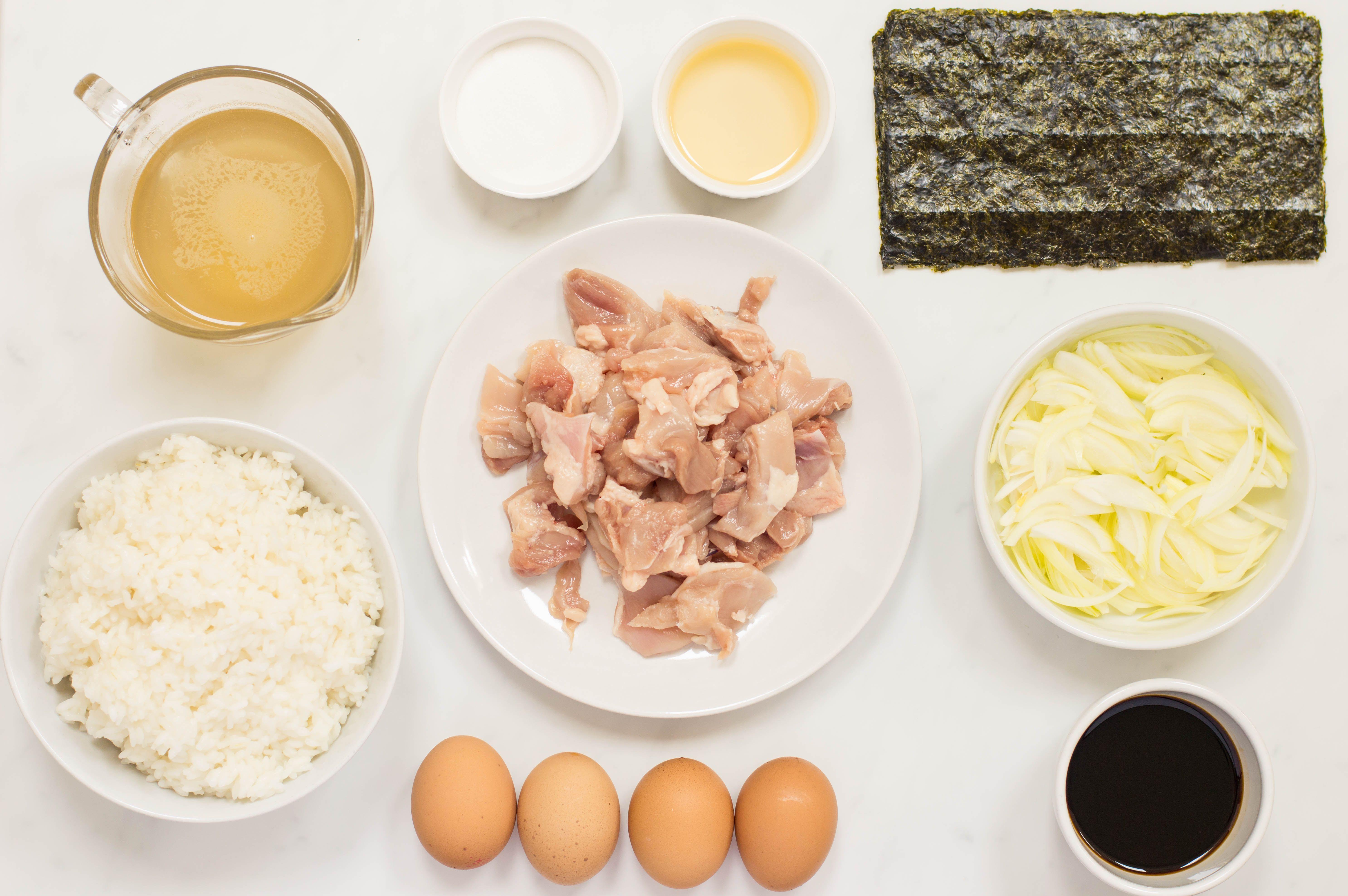 Ingredients for Oyakodon