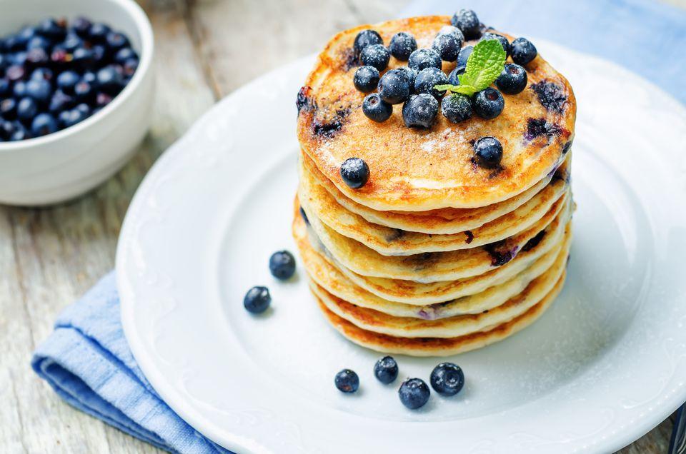 Receta Vegan Blueberry Pancake