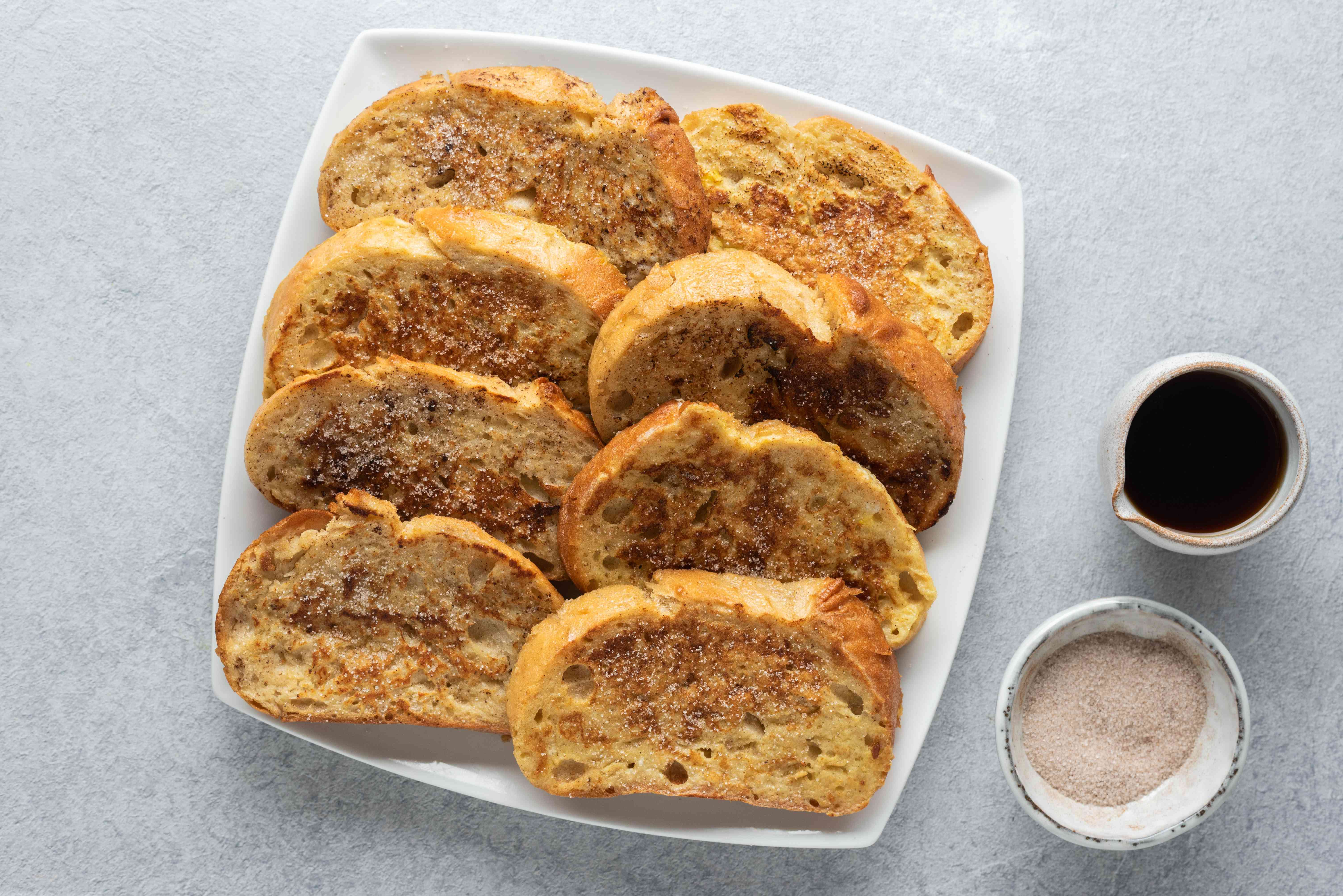 Light and Easy Cinnamon French Toast on a platter