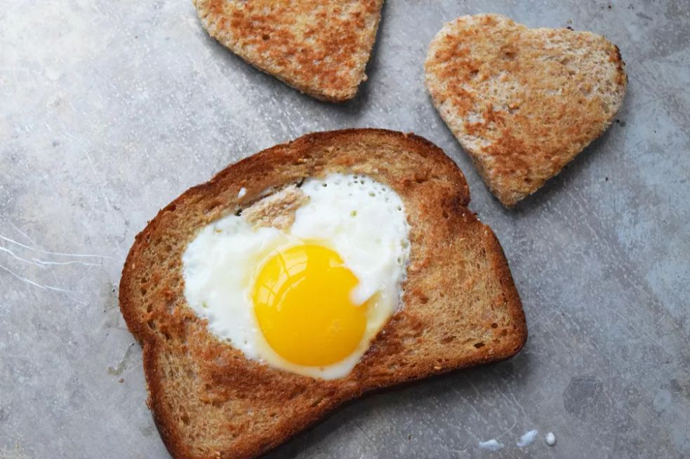 Heart-Shaped Egg-in-a-Hole