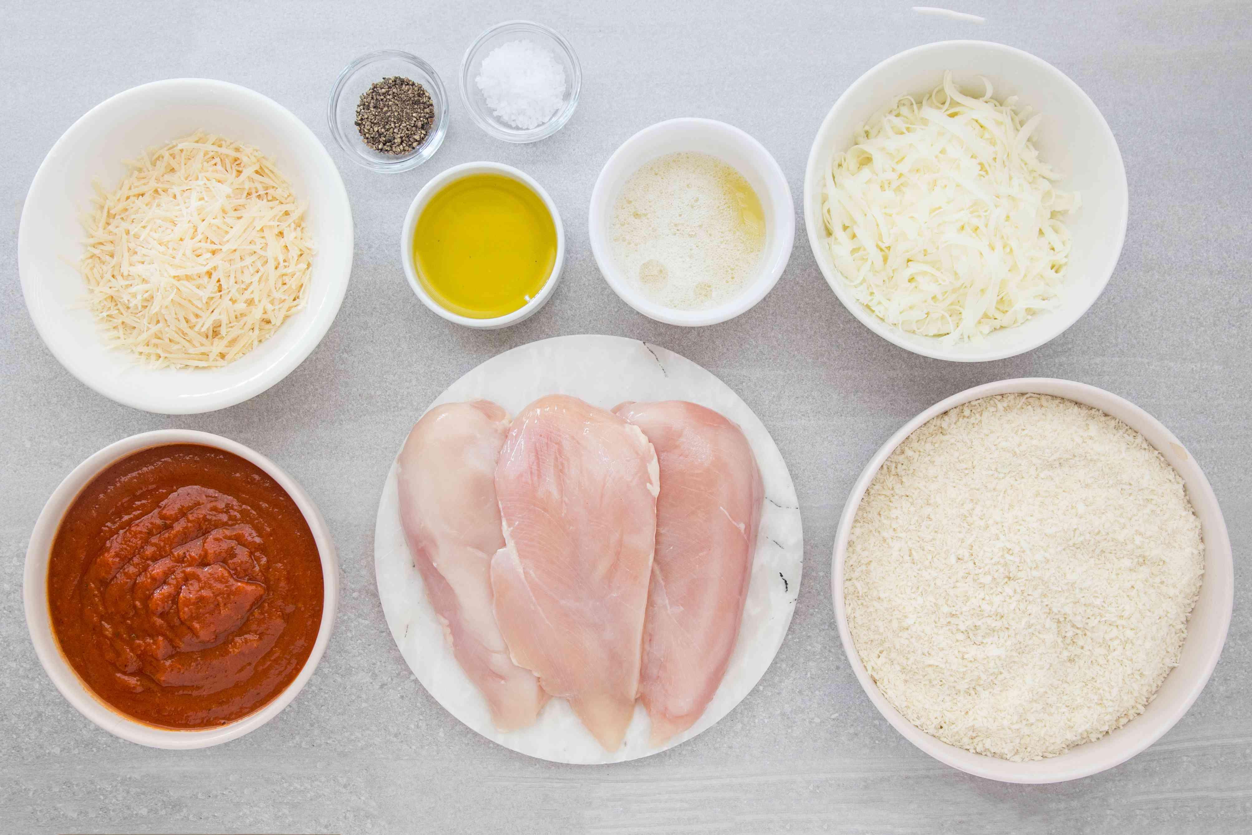 Easy Chicken Parmesan ingredients