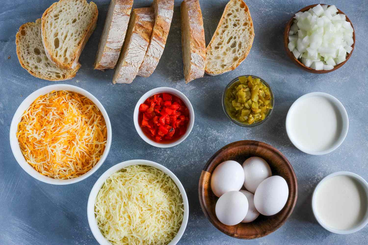Ingredients for quick strata