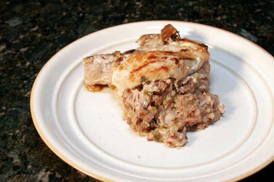 Apple Stuffed Pork Chops