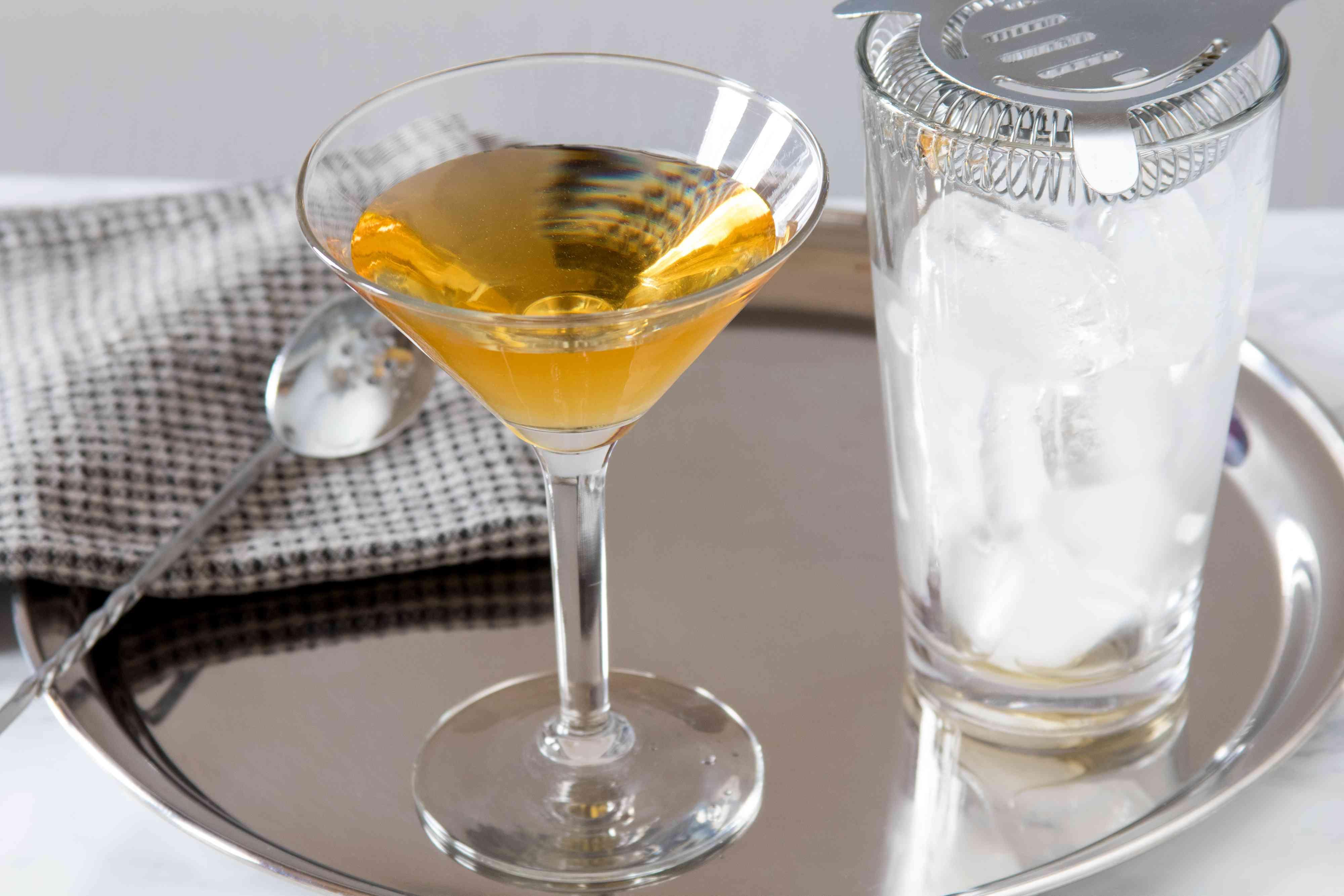 Straining a Perfect Martini