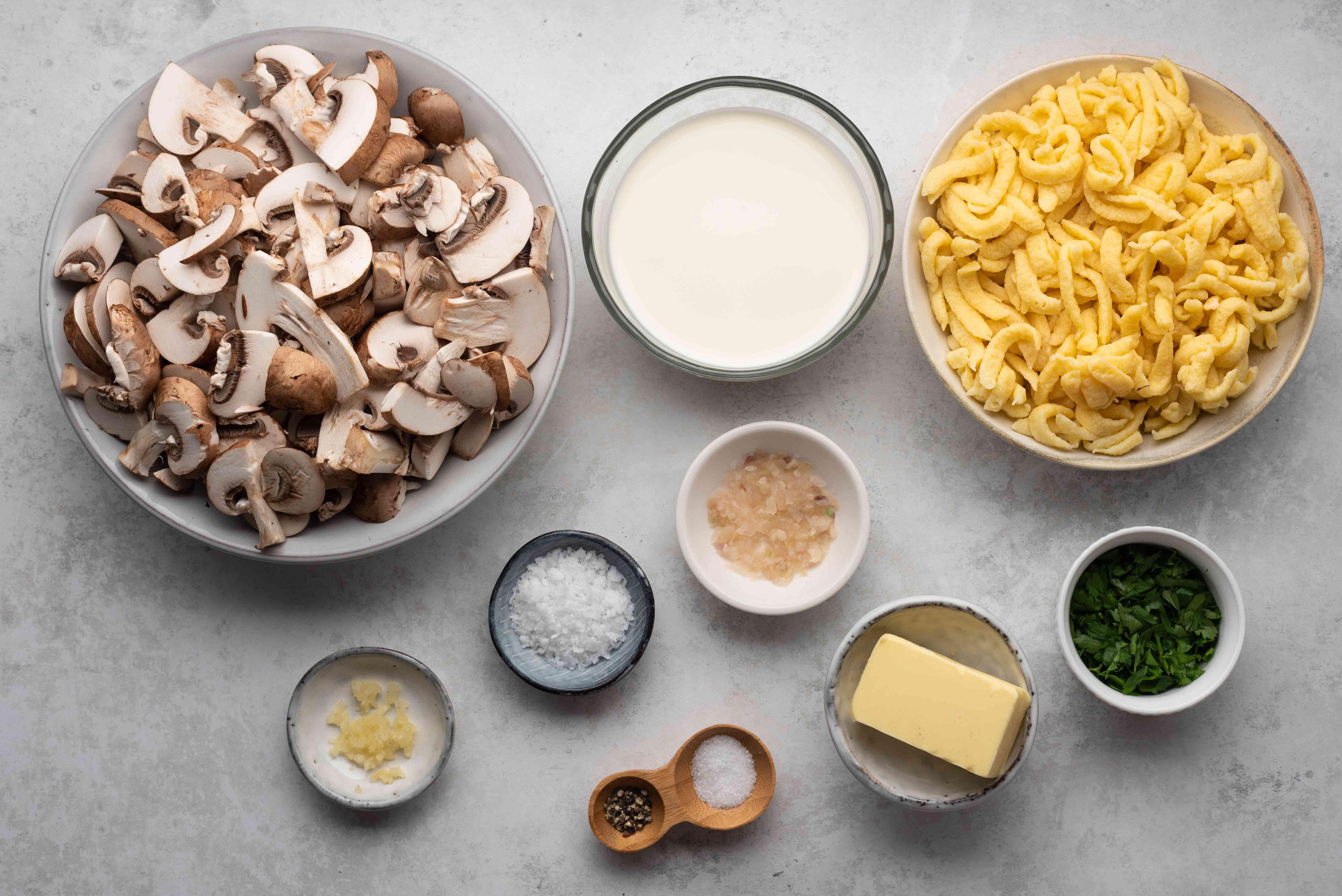 Spaetzle With Mushrooms in Cream Sauce ingredients