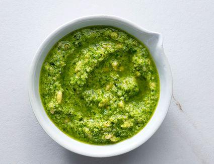 Garlic Scape and Basil Pesto