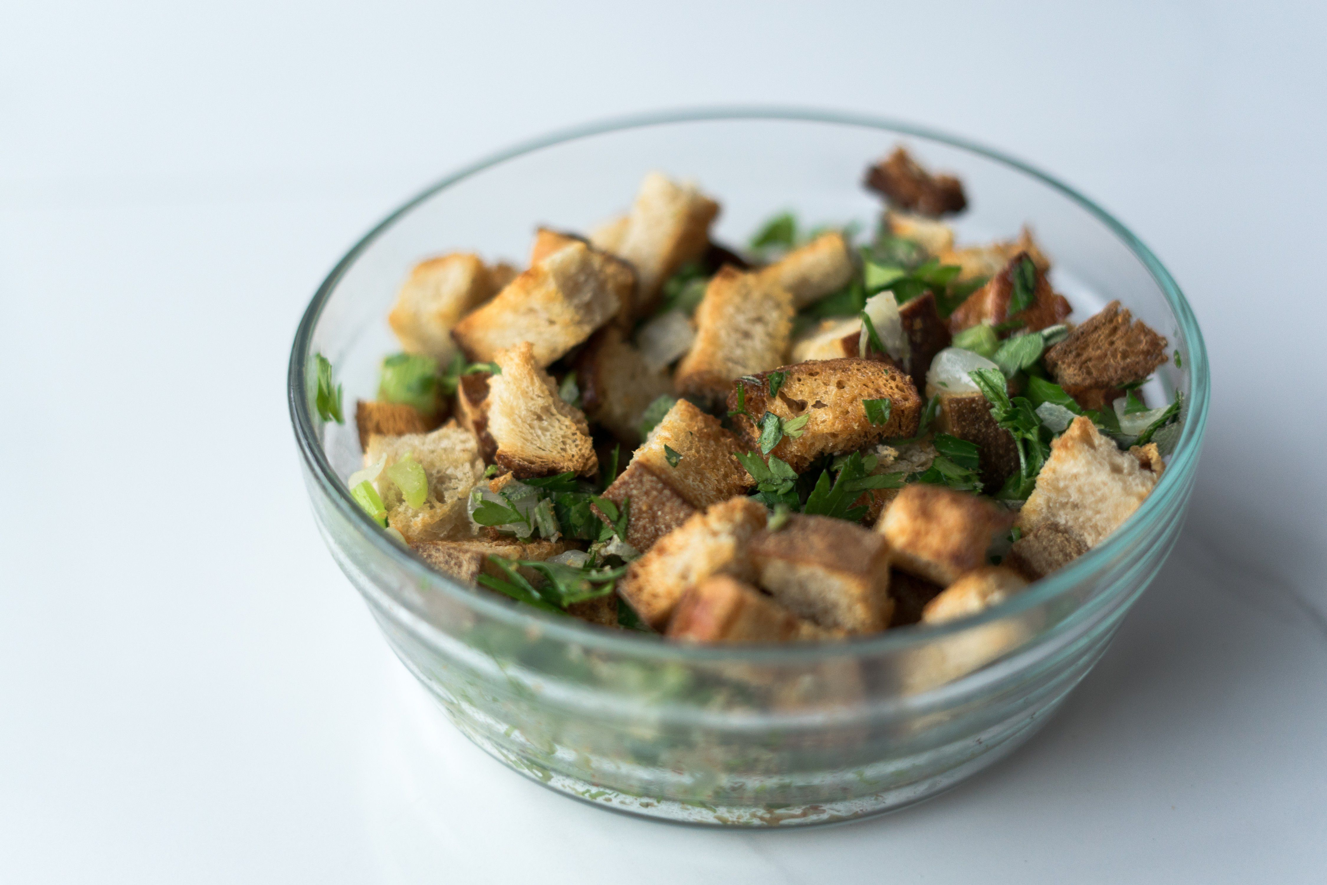 Oven-baked stuffing with sage.