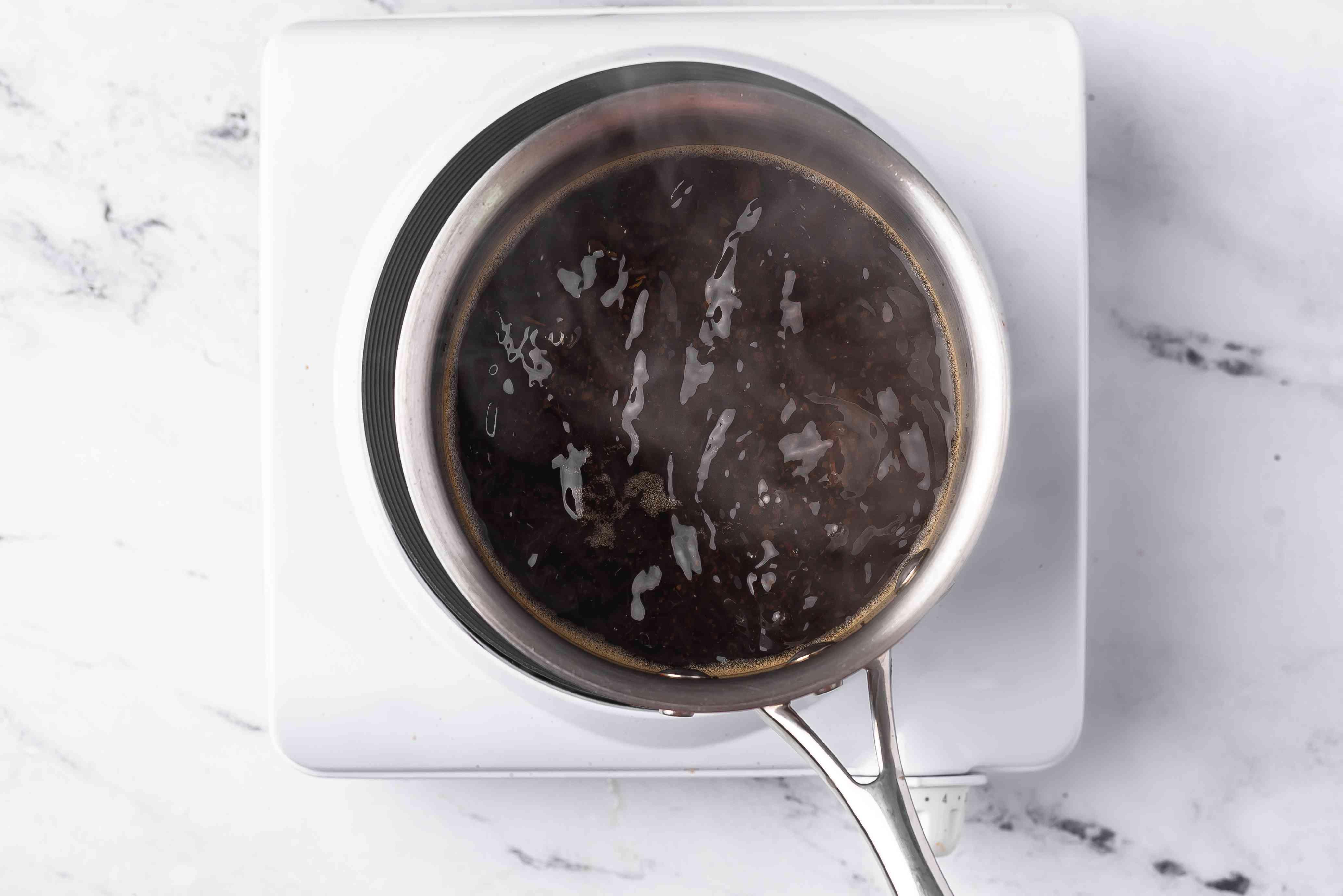 Bring tea to low boil