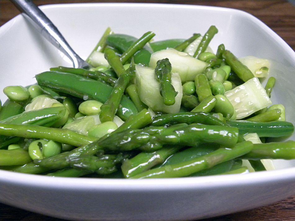 cucumber green bean dish