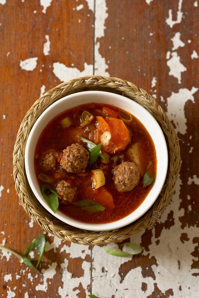 Easy Crockpot Meatball Soup