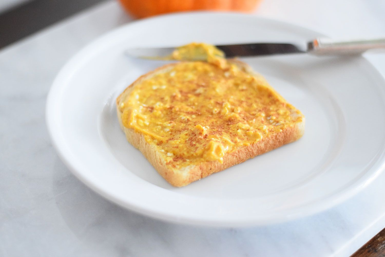 pumpkin cream cheese toast