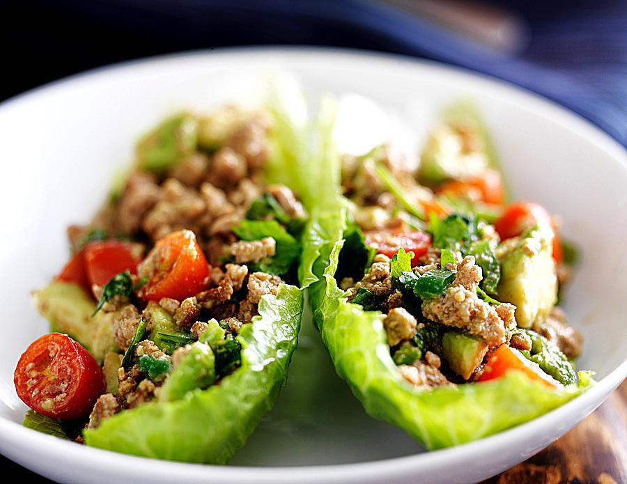 Thai Basil Chicken Lettuce Wraps