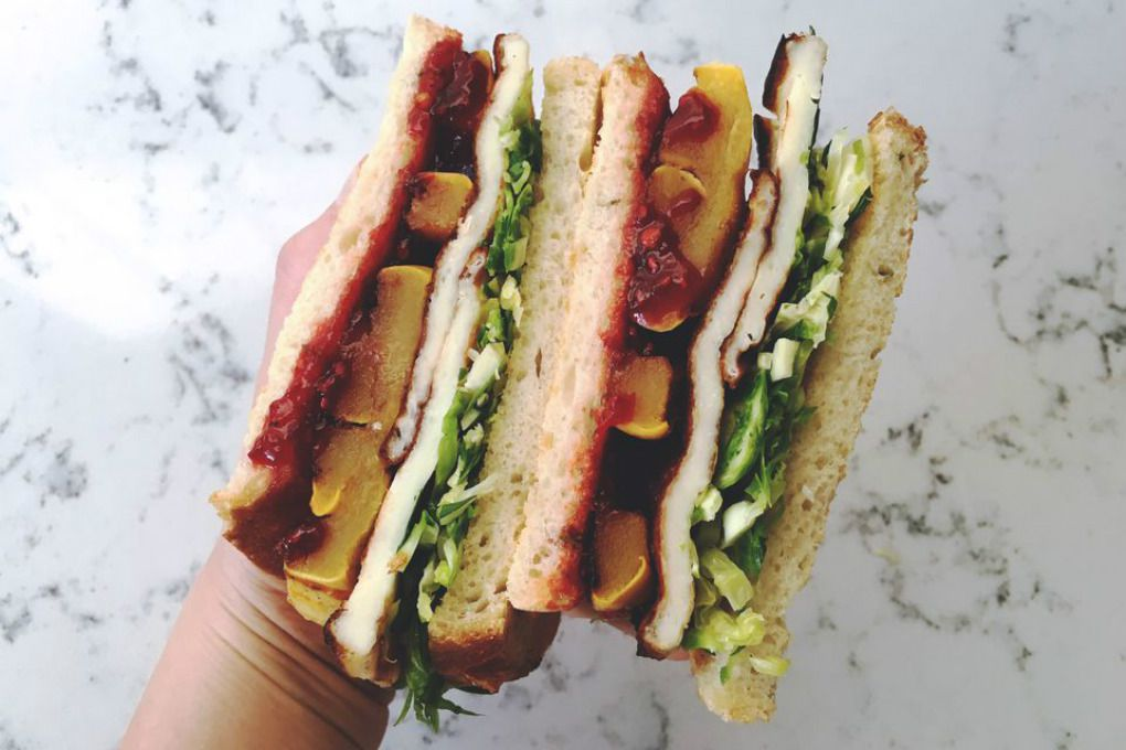Sweet and Spicy Halloumi Sandwich