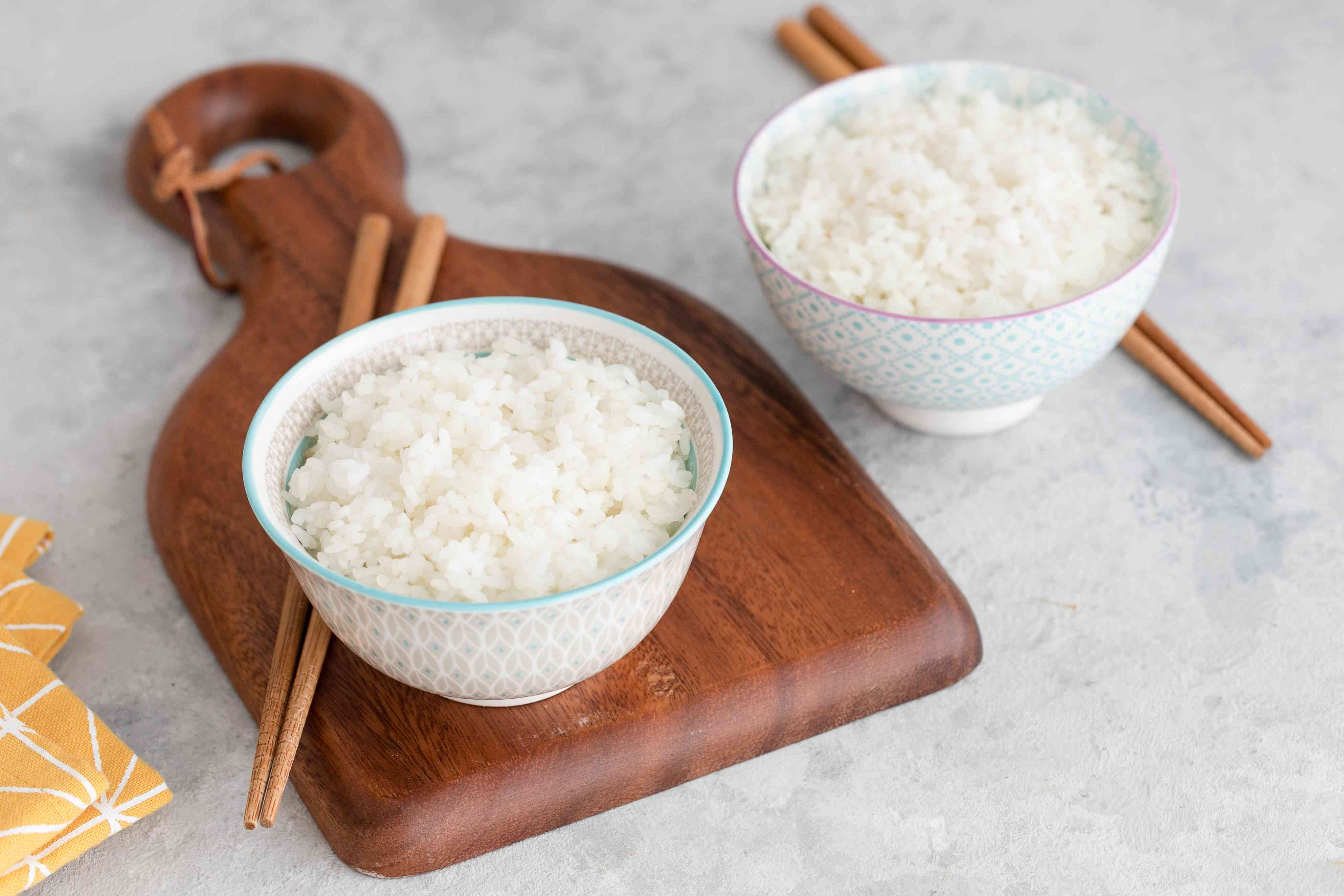 Steamed rice recipe