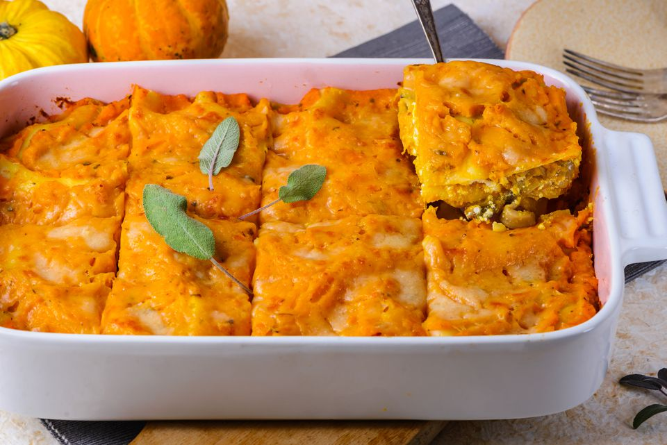 Vegetarian pumpkin lasagna recipe