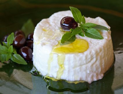 Goat cheese with olive oil