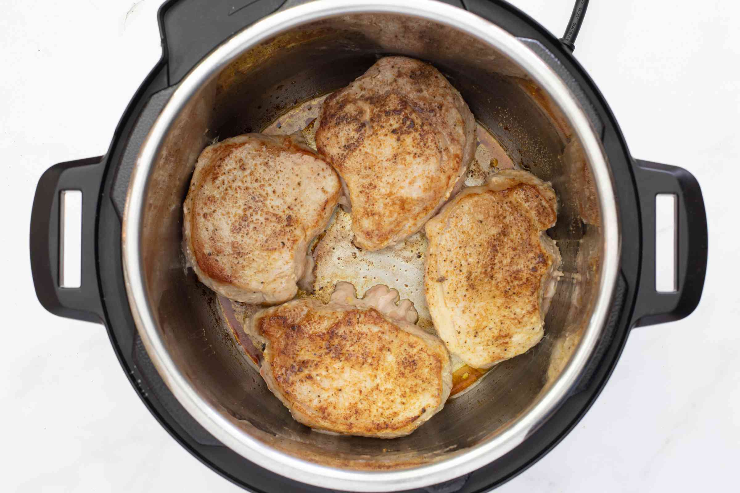 Searing pork chops in the Instant Pot