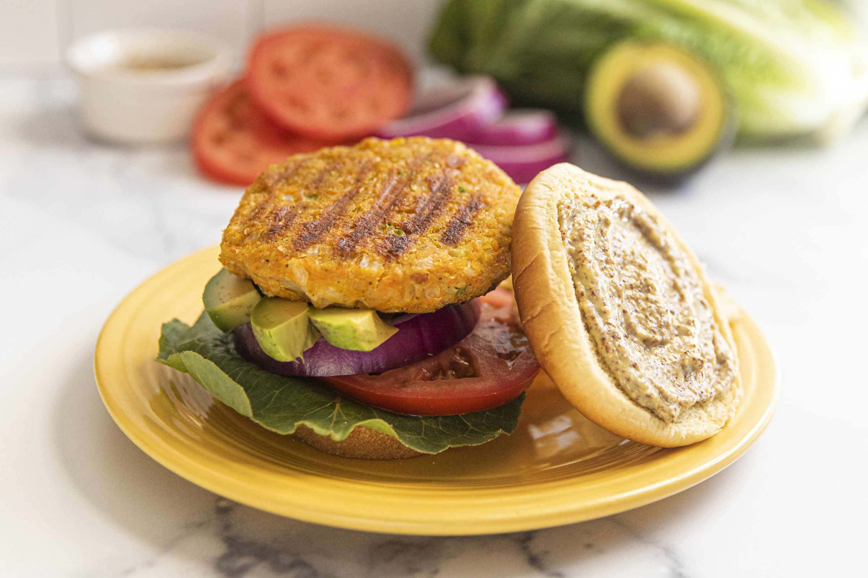 Vegan Chickpea Veggie Burger Recipe