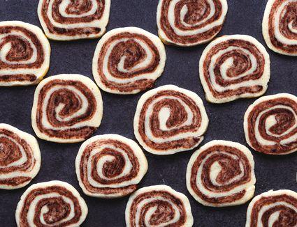 Chocolate and Vanilla Pinwheel Cookies