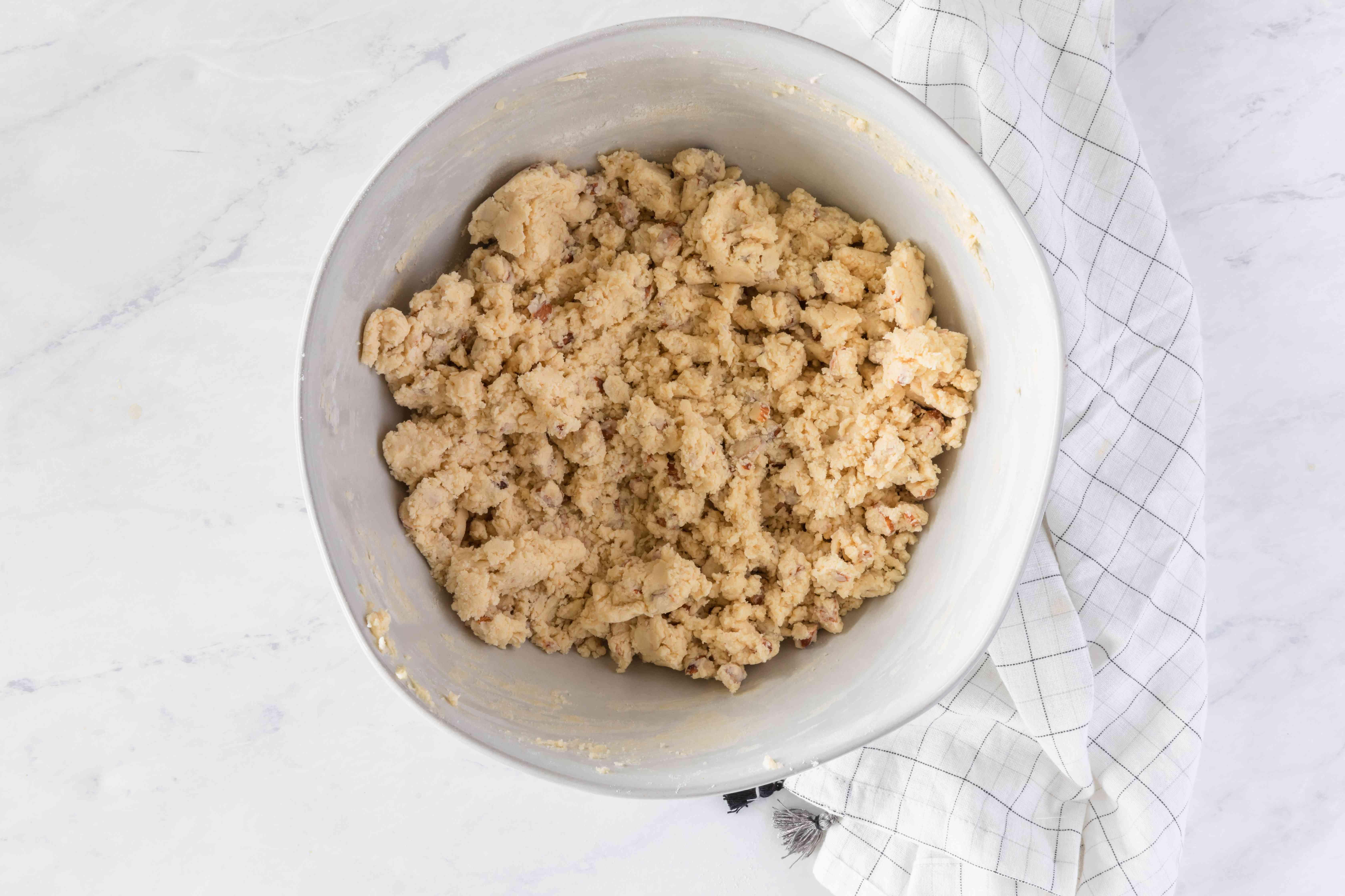Add chopped almonds
