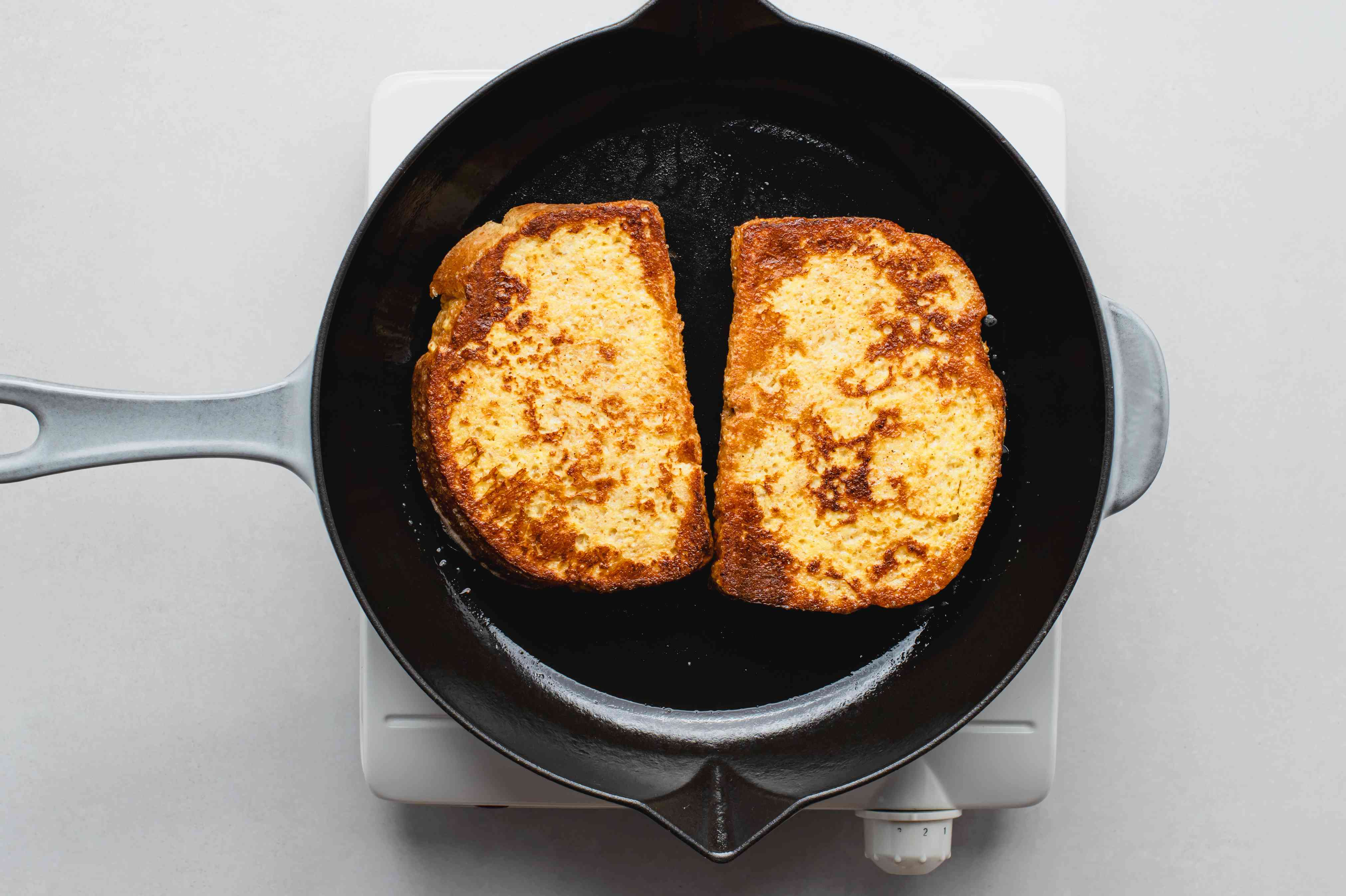 french toast cooking in a skillet